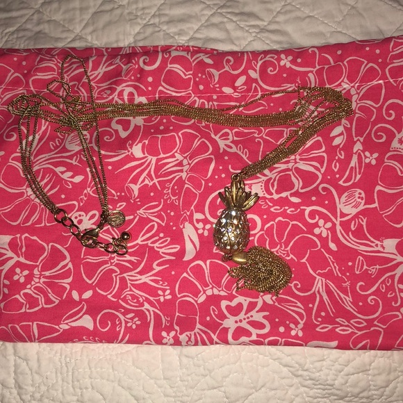 COPY - Lilly Pulitzer pineapple necklace